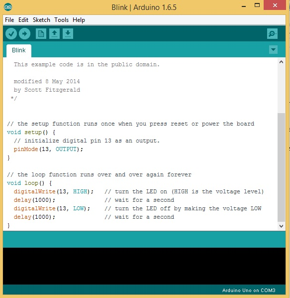 Arduino Blink Sketch