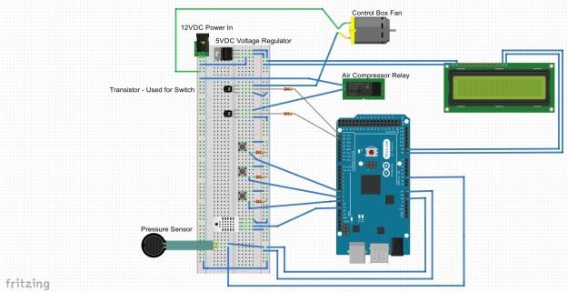 Compressor Controller - Breadboard Sketch