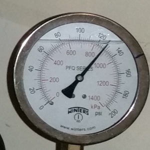 Pressure Gage Reading
